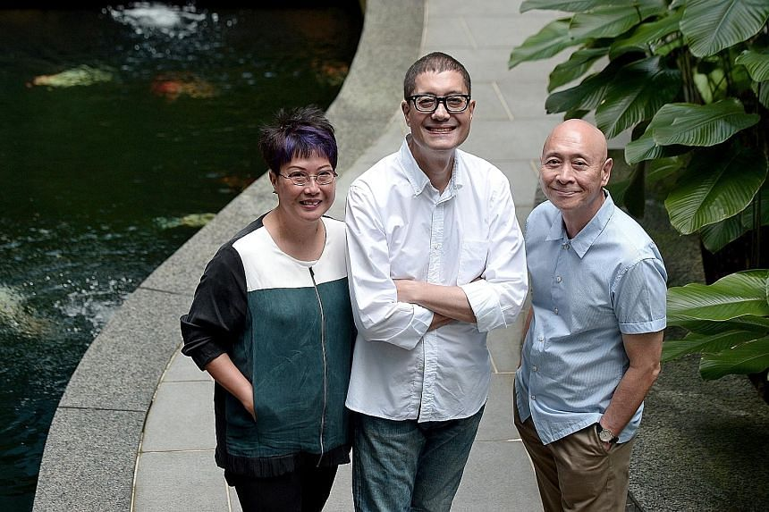 Former fashion journalists (from left) Cat Ong, John de Souza and Tom Rao are behind Fashion Most Wanted.