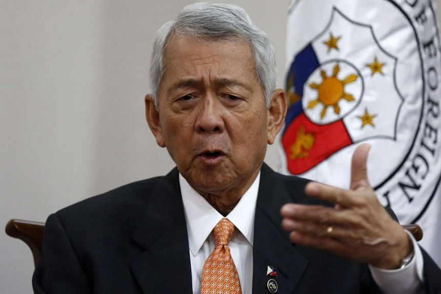 Philippine Foreign Secretary Perfecto Yasay speaks at a media interview in Manila, on Aug 5, 2016.