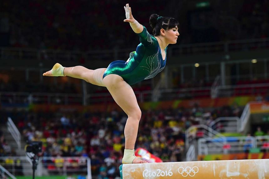 Mexico's Alexa Moreno competes in the qualifying for the women's Beam event of the Artistic Gymnastics at the Olympic Arena on Aug 7, 2016.