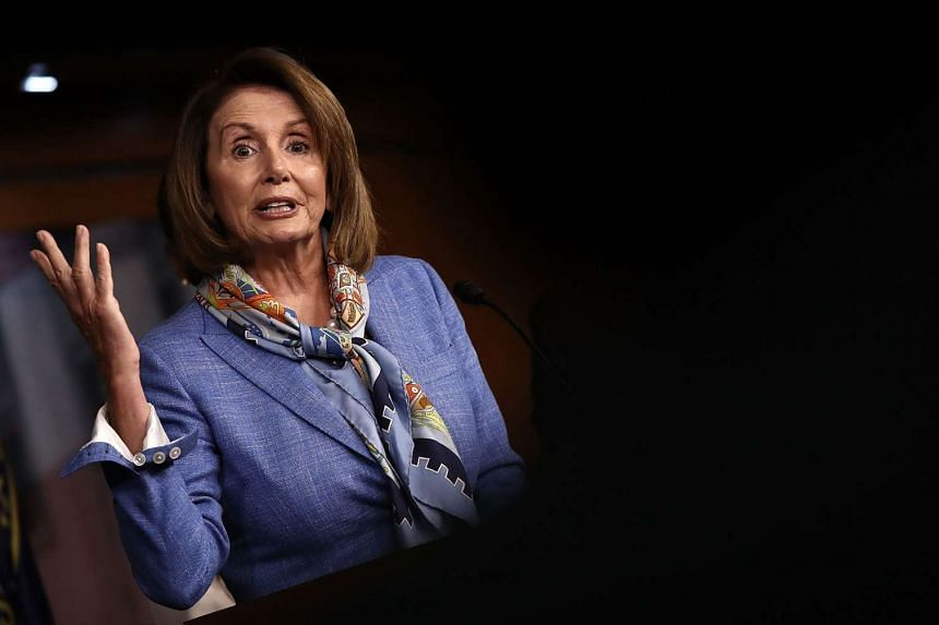 House Democratic Leader Nancy Pelosi speaks at a press conference at the US Capitol on Aug 11, 2016, in Washington, DC.