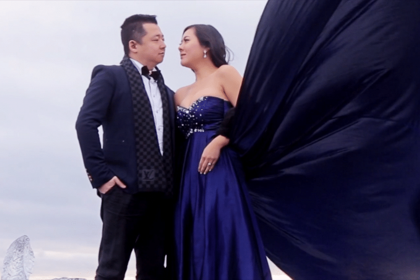 Canadians Cici and Clement had their pre-wedding photographs taken against Iceland's beautiful landscape.