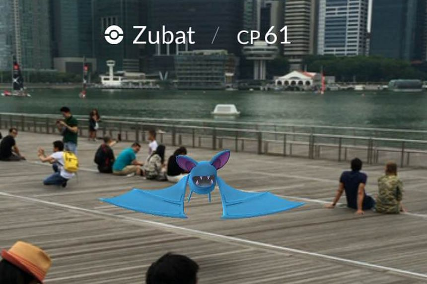 A Pokemon spotted at Marina Bay Sands in Singapore.