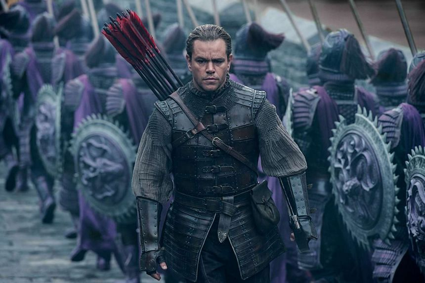 Matt Damon (above) is one of the Western actors in The Great Wall.