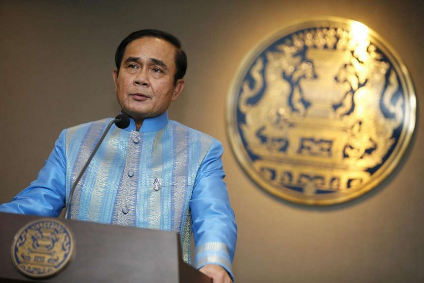Thailand's Prime Minister Prayut Chan-o-cha speaks during a press conference after a weekly cabinet meeting at the Government House in Bangkok, Thailand on August 9.