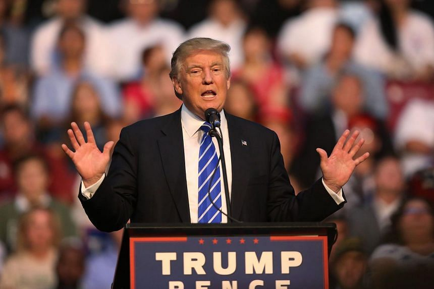 Republican presidential nominee Donald Trump speaks during a campaign event on Aug 10 in Fort Lauderdale, Florida.