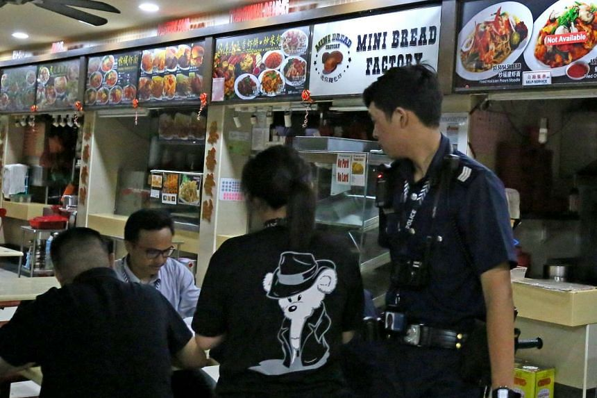 A 60-year-old hawker was arrested after going after another hawker with a knife at a Tampines coffee shop.