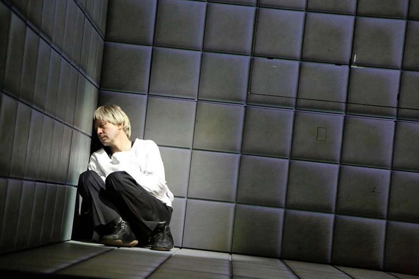 Russian actor Evgeny Mironov performs a one-man adaptation of Hamlet in the opening act of the Singapore International Festival of Arts.