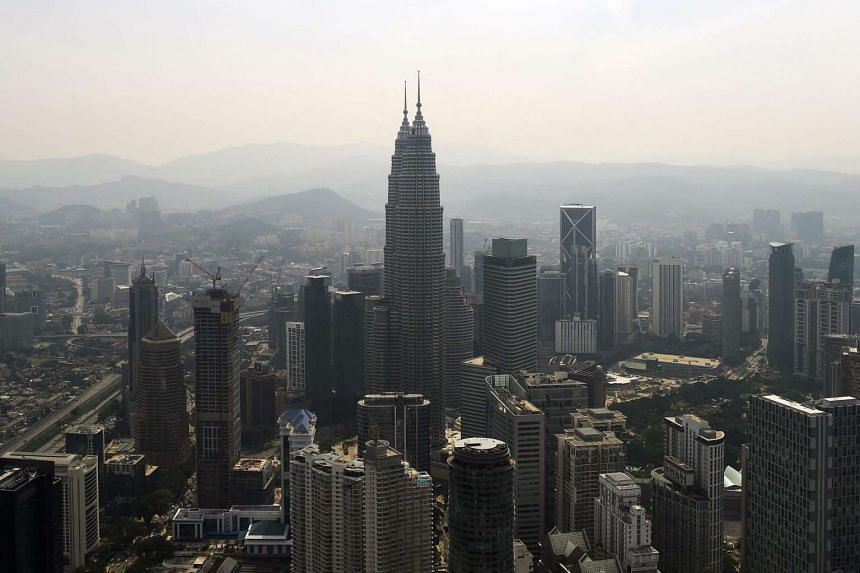The Kuala Lumpur city skyline as seen from the KL Tower.