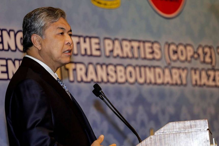 Deputy Prime Minister Ahmad Zahid Hamidi in Kuala Lumpur, Malaysia, Aug 11. His son-in-law Datuk Syed Alman Syed Alwi died after sedation for oral surgery.