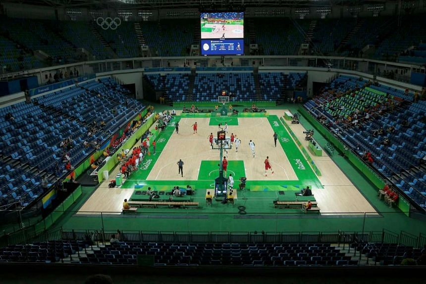 The near empty arena during the 2016 Rio Olympics  Basketball game between Nigeria and Spain.