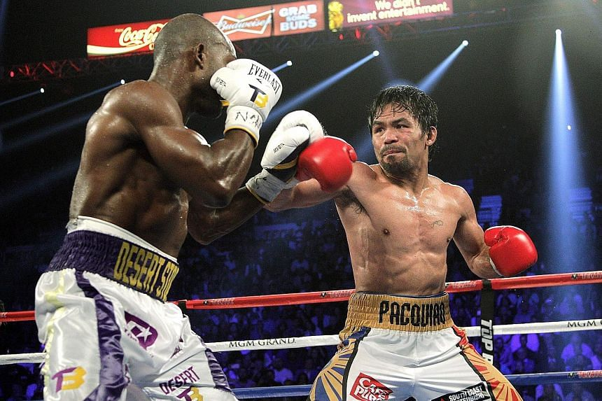Pacquiao facing off with Timothy Bradley Jr in April in their WBO international welterweight title bout in Las Vegas.