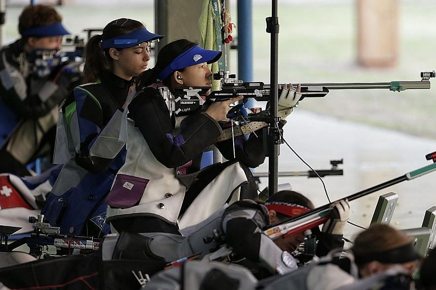 Jasmine Ser firing from the kneeling position with some rivals already having switched to the next set of 20 shots from prone. A below-par 190 from kneeling affected her concentration, which meant she was out of the running from early on. An excellen