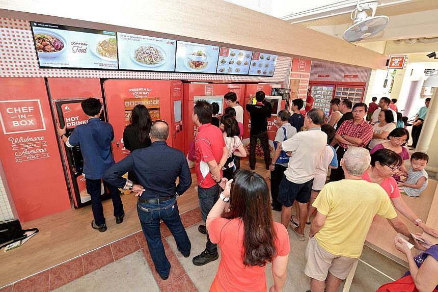 Some people travelled from as far as Telok Blangah for a taste of the vending machine meals.