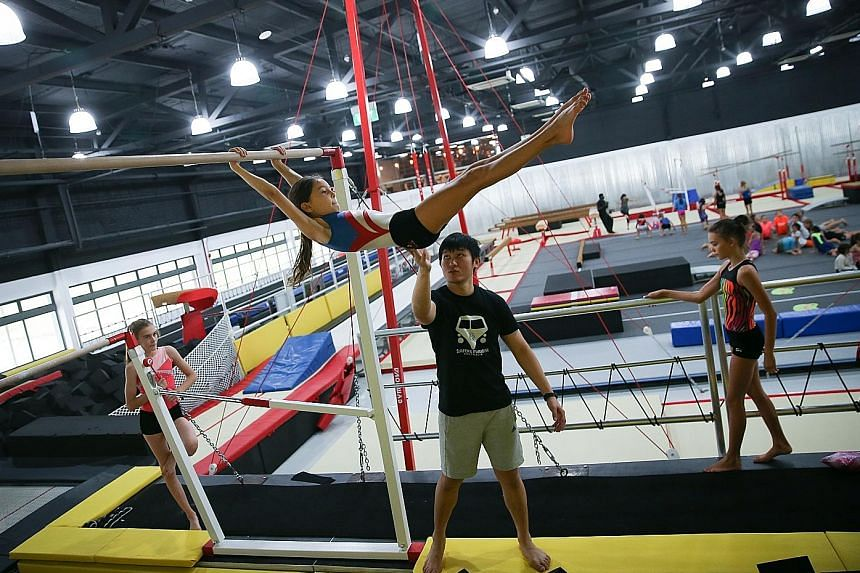 The Yard conducts gymnastics classes for children and adults.