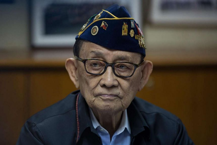 Former Filipino President Fidel Ramos looks on as he issues a statement at the Philippine Consulate General in Hong Kong, on Aug 12, 2016.