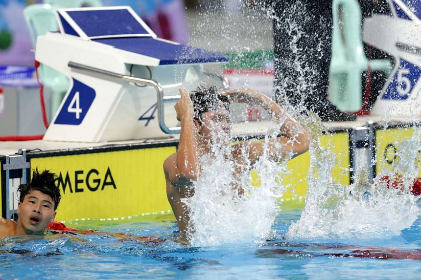 GOLD #4, DEC 14: He anchored the 4x100m free team to a Games and national record with Clement Lim, Danny Yeo and Darren Lim.