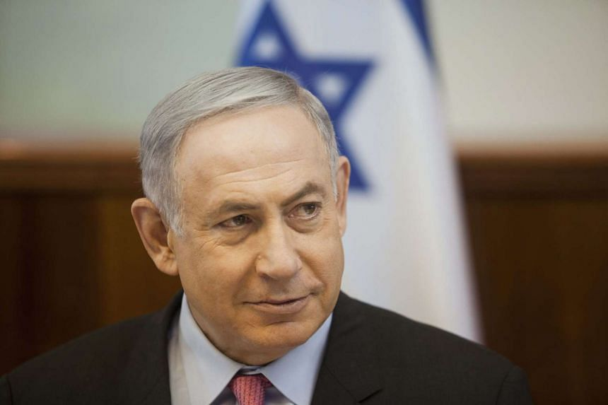 Netanyahu's (above) comments were in response to allegations that Islamic Hamas stole aid from a major charity and the UN.