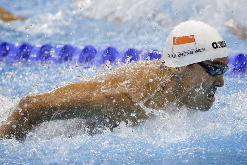 Quah in his butterfly heat, where he set a new personal best time.