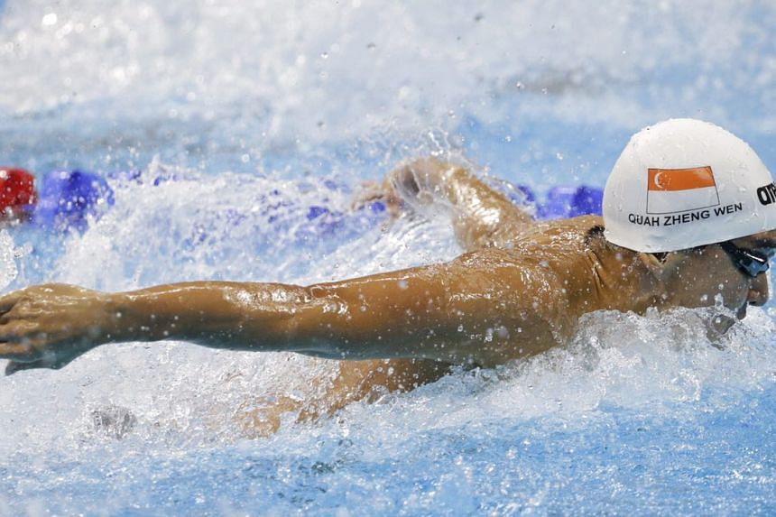 Quah in action during his heat.