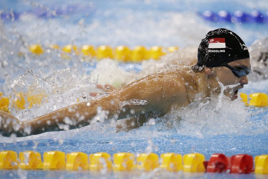Singapore's Joseph Schooling in action during the Rio 2016 Olympic Games men's 100m butterfly semi-final on Aug 11.