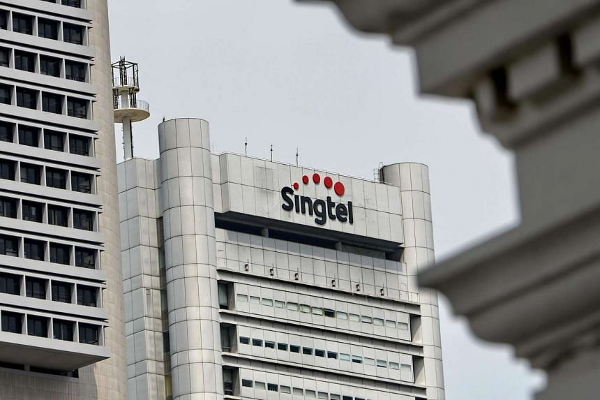 A Singtel (Singapore Telecom) logo is seen on its buillding in Singapore on Aug 11.