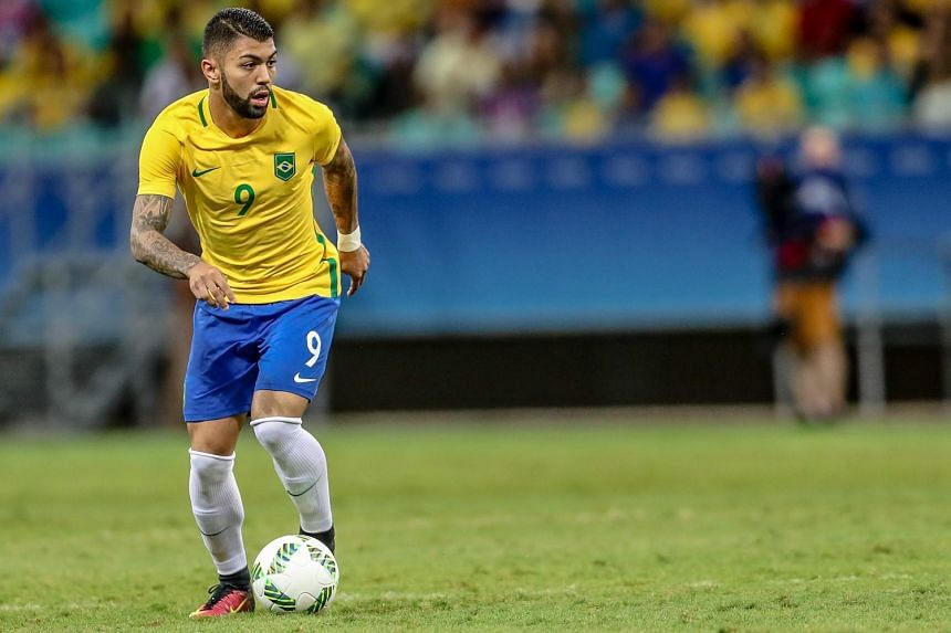 Brazil's Gabriel Barbosa scored twice to inspire his team to a 4-0 win against Denmark.