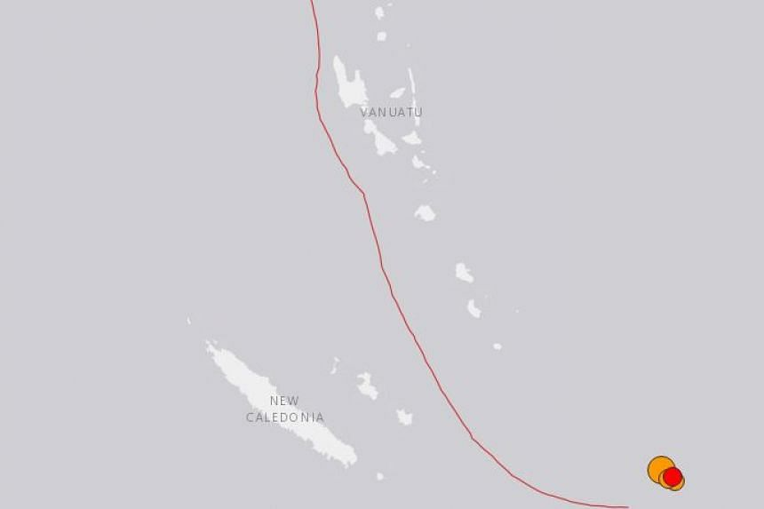 The South Pacific island nation of Vanuatu was struck by a major earthquake with a magnitude of 7.2 on August 12. PHOTO:  USGS SCREENSHOT