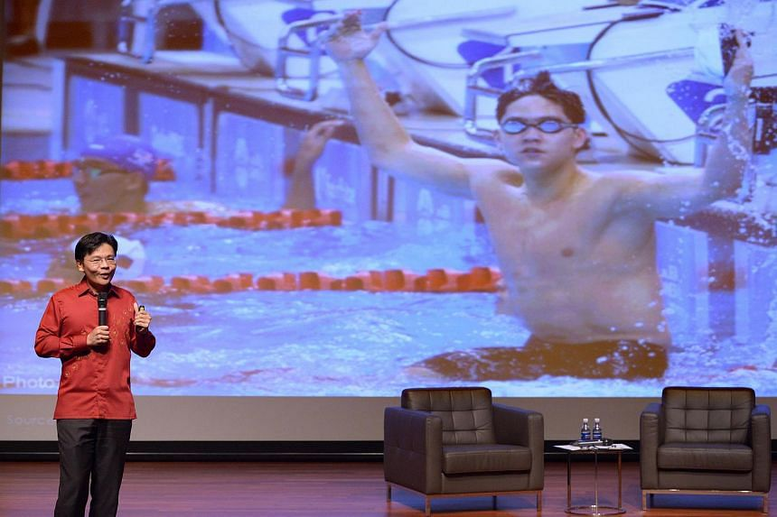 Minister for National Development Lawrence Wong leads the annual Kent Ridge Ministerial Forum with tertiary students to discuss political and national matters at NUS on Aug 11, 2016.