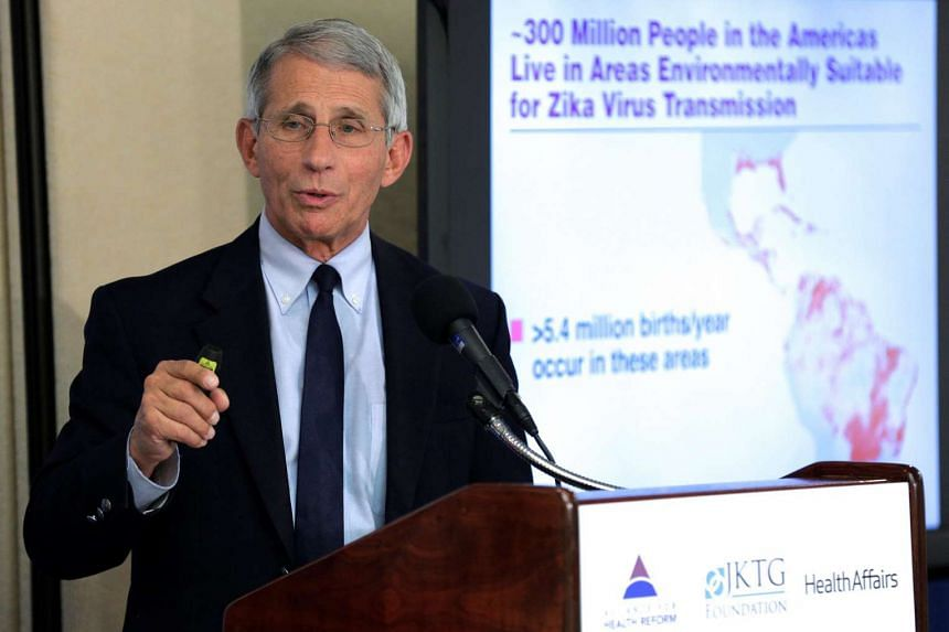 Dr Anthony Fauci, director of the National Institute of Allergy and Infectious Diseases at the National Institutes of Health speaks to the media about the Zika virus in Washington, US on Aug 11.