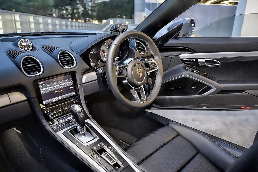 The Porsche 718 Boxster S has a generous spread of torque, allowing the car to respond to throttle inputs promptly.