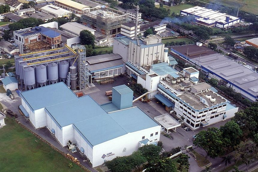 Olam Cocoa's Jurong factory in Singapore. The group's food business is expected to remain stable for the rest of the year.