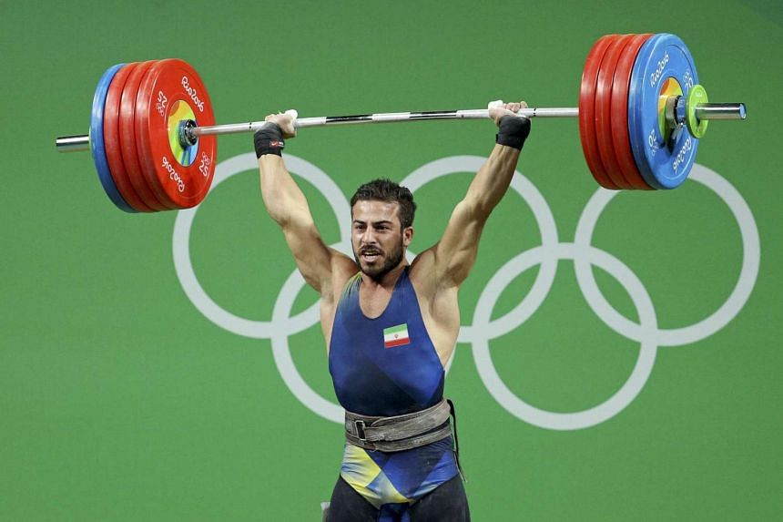 Kianoush Rostami of Iran competes during the 2016 Rio Olympics on Aug 13.