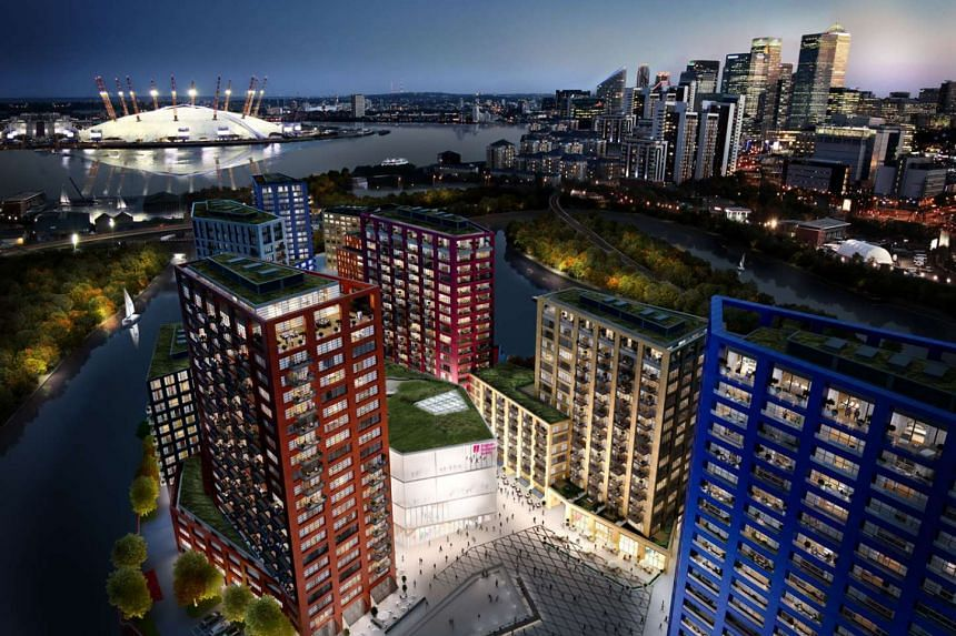 An artist's impression of the London City Island project which is jointly developed by Malaysian developer Ecoworld and UK-based Ballymore.