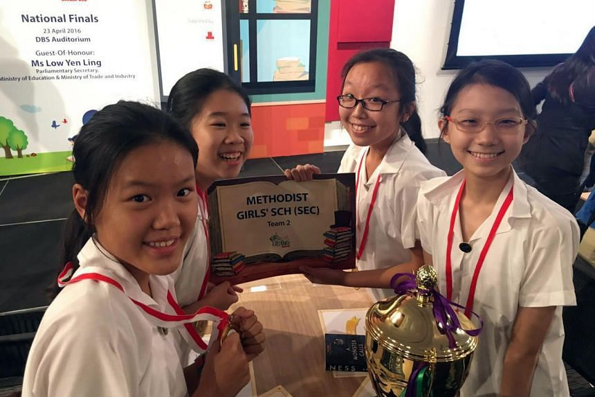 The winners from Methodist Girls' School Erin Chan, Hua Xuan Ying, Tricia Chee and Elizabeth Chua.