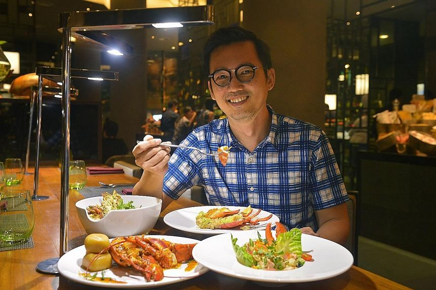 Singapore label Onlewo's Mike Tay (above) eats almost anything when he is dining out, but goes for porridge and eggs at home.