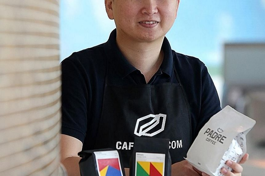 The roasted coffee beans for Cafebond co-founder Eugene Chen's e-commerce platform come from 15 well-known Australian cafes and roasteries, with the cost of a bag starting from $14.