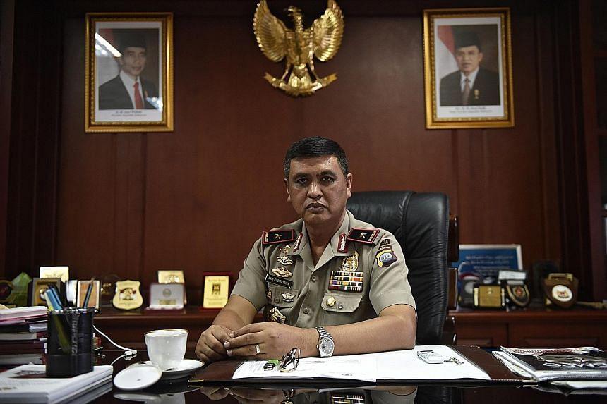 Riau Islands police chief Brigadier-General Sam Budigusdian.