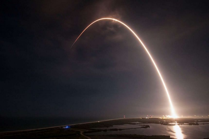 SpaceX's Falcon 9 rocket launches from Cape Canaveral, Florida on Aug 14, 2016.