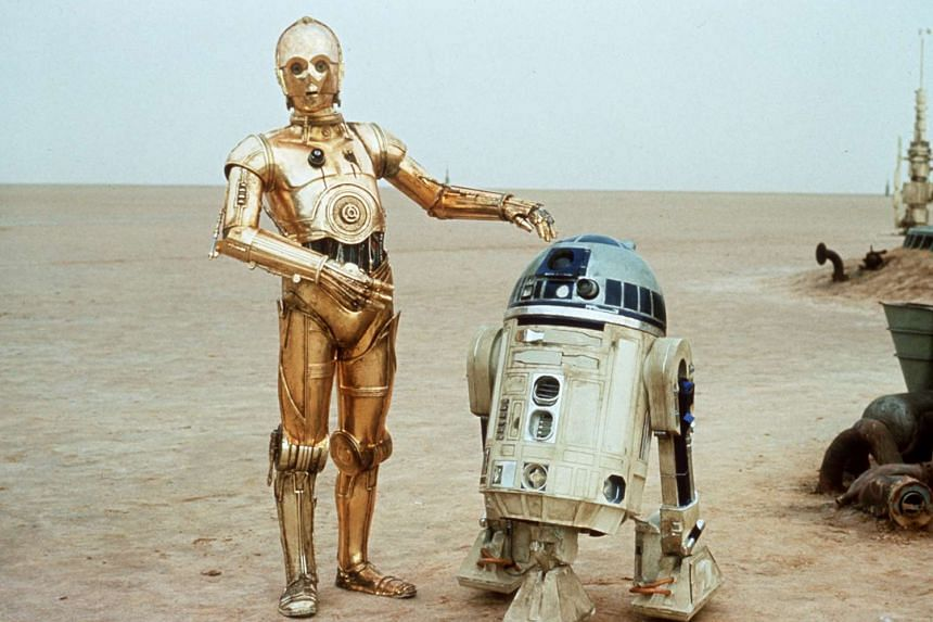 Baker played R2-D2 (right) in the early Star Wars movies.
