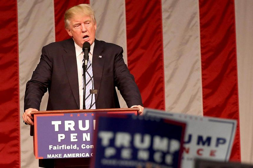 Republican presidential nominee Donald Trump speaks during a campaign event in Fairfield, US, on August 13.