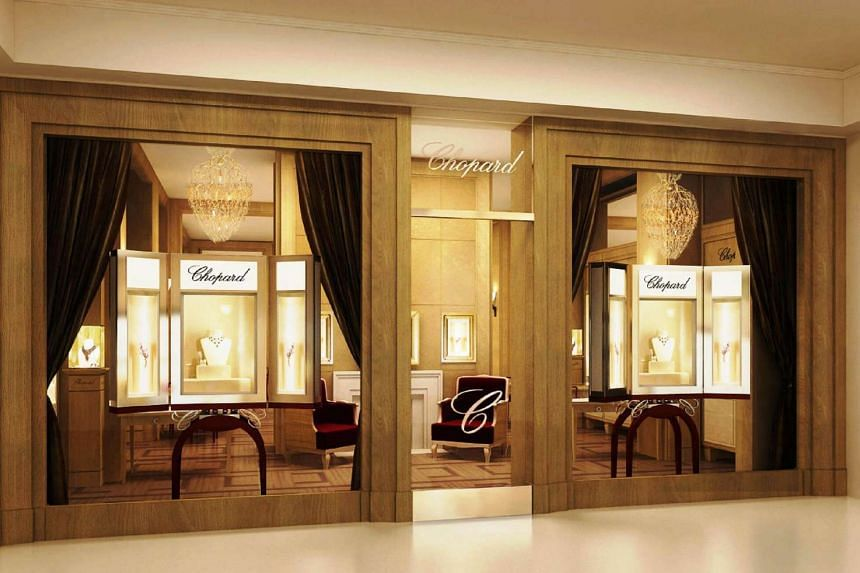 An artist's impression dated 2009 of Chopard's jewellery boutique in Ngee Ann City, Singapore.