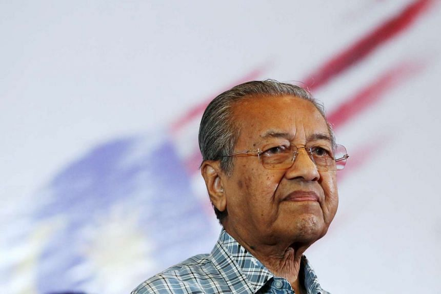 Malaysia's former PM Mahathir Mohamad seen in a picture taken on March 27.
