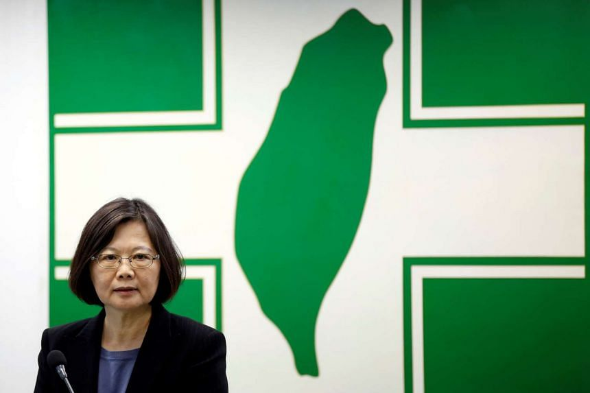Taiwanese president Tsai Ing-wen speaks at a Democratic Progressive Party (DPP) meeting in Taipei, Taiwan.