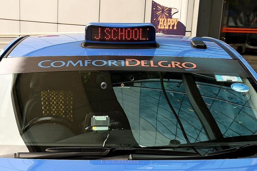 "About 17,000 ComfortDelGro taxis will display ""Our Pride J Schooling"" on their rooftop signs until Sunday. The company also offered $10 off rides to those who wished to welcome the athlete at the airport this morning. Hours after Schooling's Olympic"