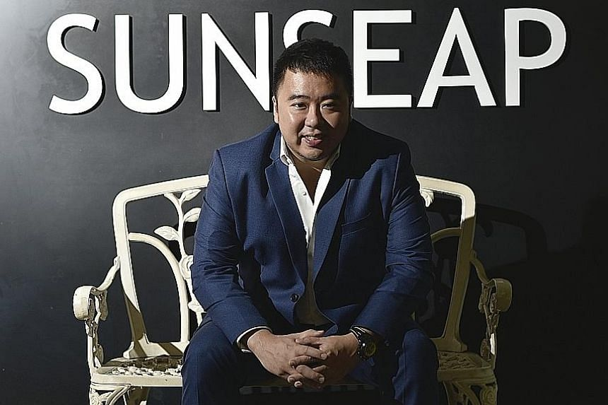 Sunseap founder Frank Phuan (above) now recounts the ins and outs of his business with enthusiasm, but there was a time when he did not fancy having a career in the solar energy business