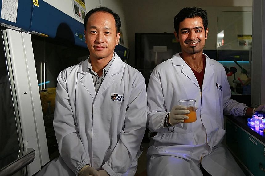 The team of scientists that did the study was headed by Prof Yuk (far left) and Dr Ghate. The study findings were published in April this year in the Journal Of Food Protection.