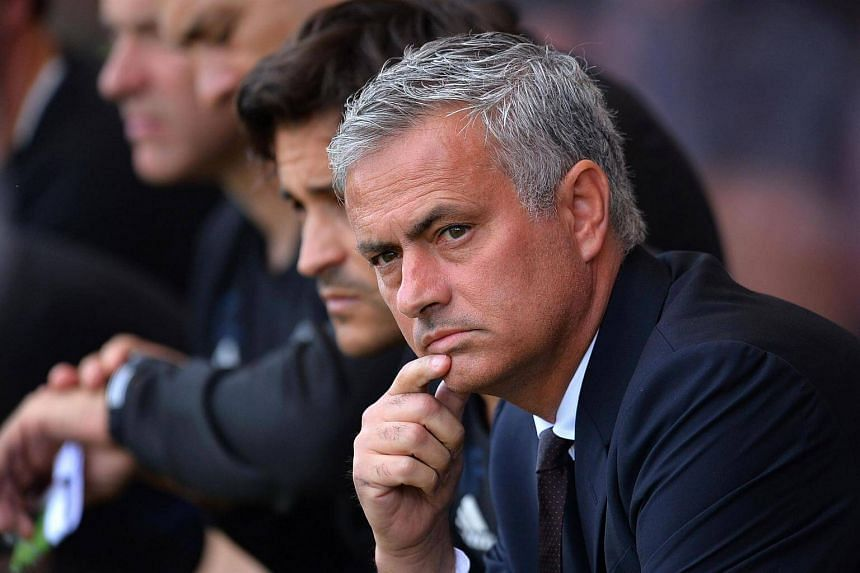 Manchester United's manager Jose Mourinho at the English Premier League football match between Bournemouth and Manchester United, on August 14.