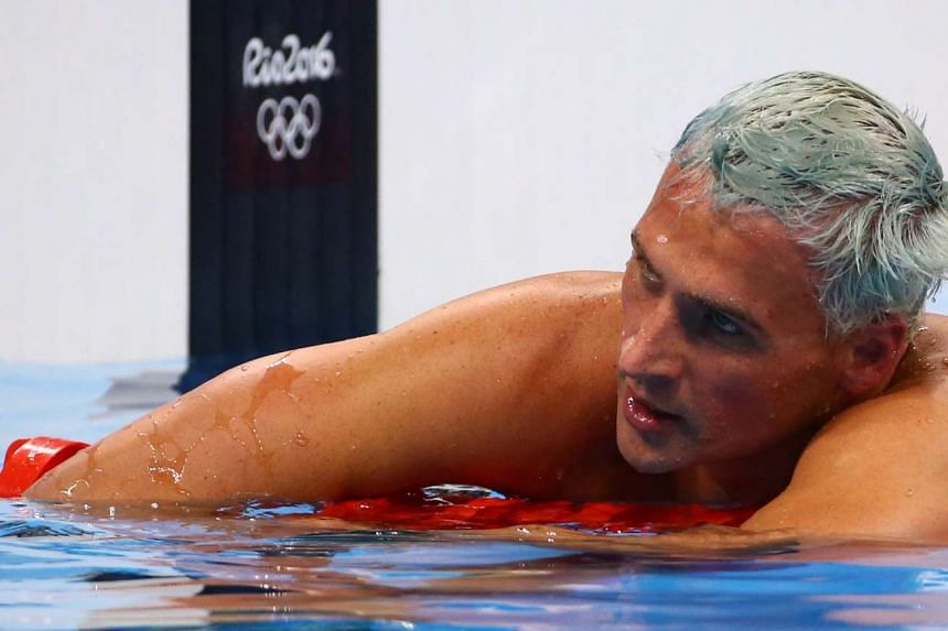 Ryan Lochte reacts after the men's 200m individual medley final.