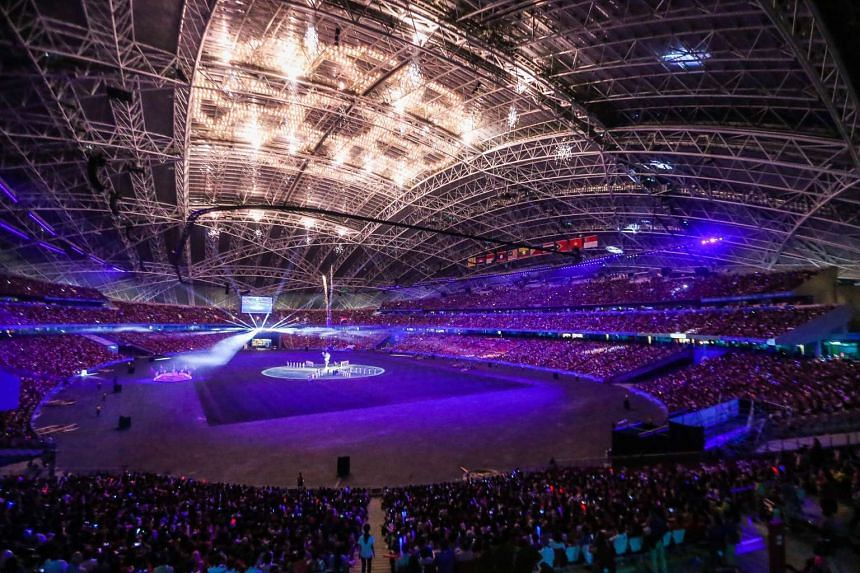 The closing ceremony of the 28th SEA Games at the Singapore Sports Hub on June 16, 2015.
