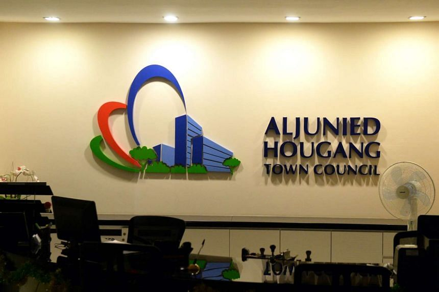 The Aljunied-Hougang Town Council main office at Blk 810, Hougang Central.